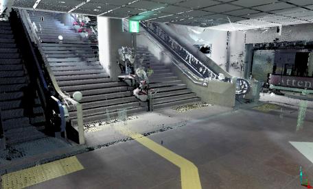 地下街3Dスキャナー計測
